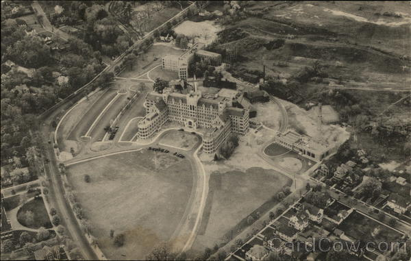 Aerial View of the New Hospital Springfield Massachusetts