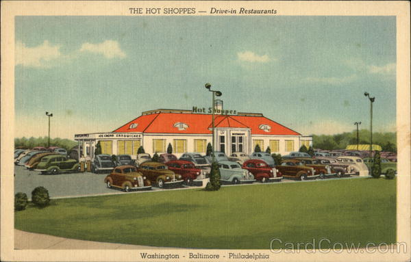 The Hot Shoppes Drive-In Restaurants Washington District of Columbia