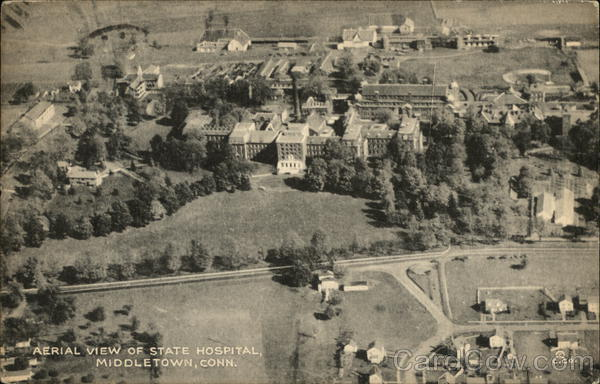 Aerial View of State Hospital Middletown Connecticut