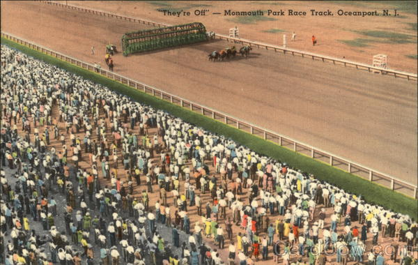 They're Off - Monmouth Park Race Track Oceanport New Jersey