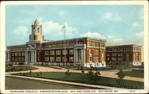 Maryland Casualty Administration Building, 40th and Cedar Avenue Baltimore