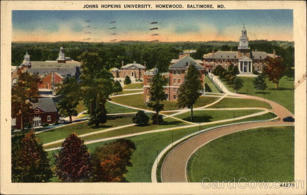 Johns Hopkins University, Homewood Baltimore Maryland