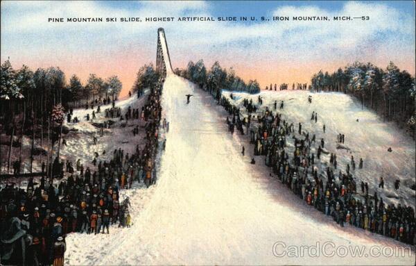 Pine Mountain Ski Slide Iron Mountain Michigan