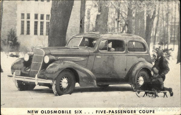 New Oldsmobile Six ... Five-Passenger Coupe Cars