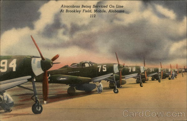Airacobras at Brookley Field Mobile Alabama