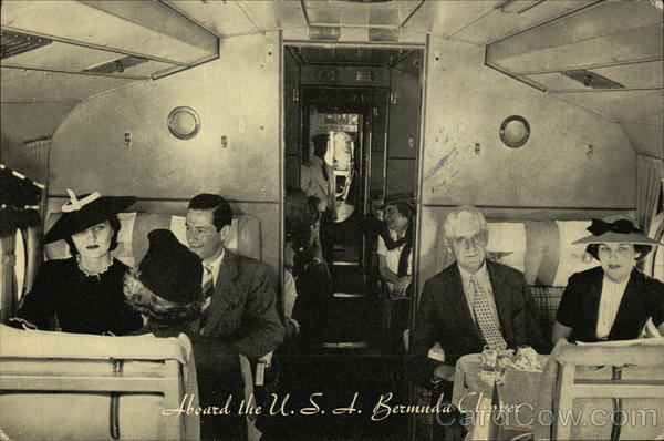 Aboard the USA Bermuda Clipper Pan American Aircraft