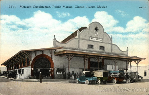 Street View of the Public Market Juarez Mexico