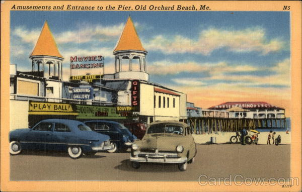 Amusements and Entrance to the Pier Old Orchard Beach Maine