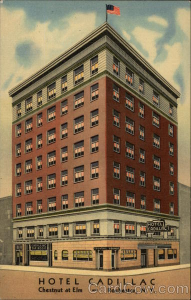 Hotel cadillac rochester ny postcard for Garage new york grenoble