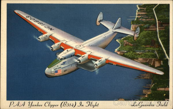 PAA Yankee Clipper (B314) In Flight over LaGuardia  Field