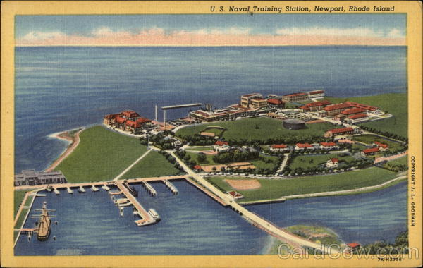 Aerial View of US Naval Training Station Newport Rhode Island
