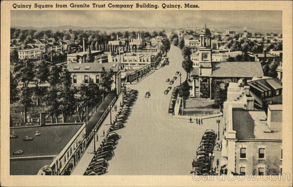 Quincy Square from Granite Trust Company Building Massachusetts