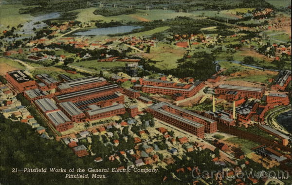 Aerial View of Pittsfield Works of the General Electric Company Massachusetts