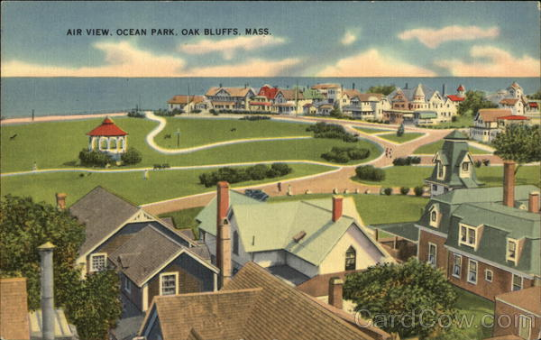 Air View of Ocean Park Oak Bluffs Massachusetts