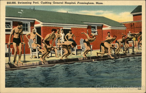 $50,000 Swimming Pool, Cushing General Hospital Framingham Massachusetts