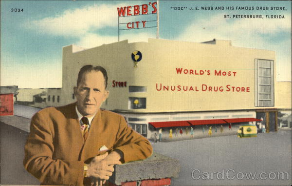 DOC JE Webb and His Famous Drug Store St. Petersburg Florida