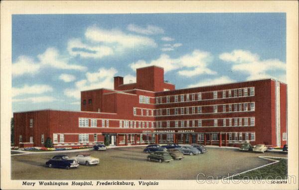Mary Washington Hospital Fredericksburg Va Postcard