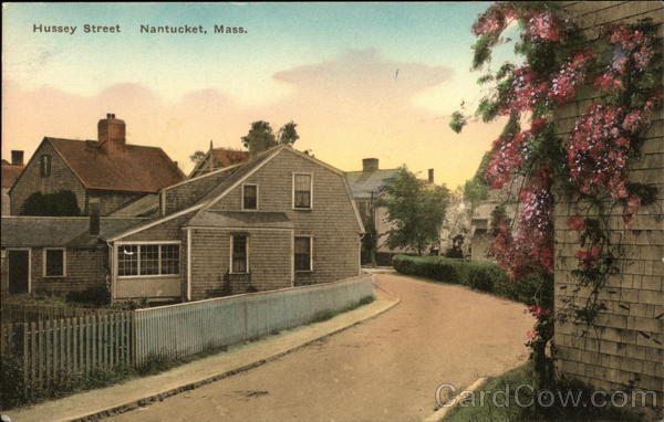 Residential View on Hussey Street Nantucket Massachusetts