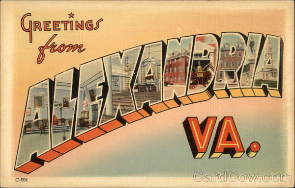 Greetings from Alexandria, VA Virginia Large Letter