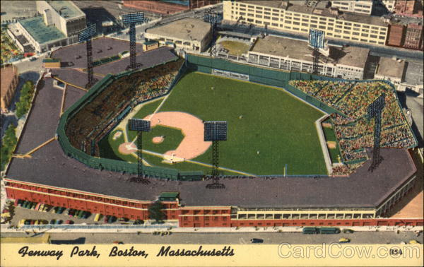 Aerial View of Fenway Park Boston Massachusetts