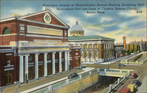 Symphony Hall and Horticultural Hall Boston Massachusetts