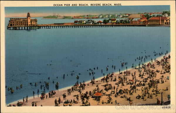 Ocean Pier and Beach Revere Beach Massachusetts