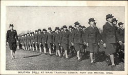 Military Drill at WAAC Training Center