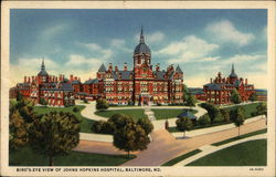 Bird's Eye View of Johns Hopkins Hospital
