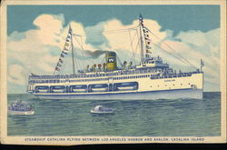 Steamship Catalina Plying Between Los Angeles Harbor and Avalon, Catalina Island