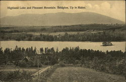 Scenic View of Highland Lake and Pleasant Mountain