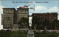 Hotel Mount Royal and Apartments ... Baltimore 2, Maryland