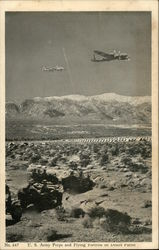 US Army Peeps and Flying Fortress on Desert Patrol