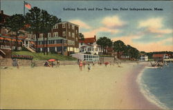 Bathing Beach and Pine Tree Inn