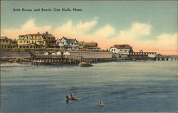 Water View of Bath House and Beach