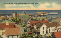 Bird's-Eye View of Oak Bluffs and Wharf