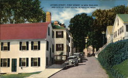 Leyden Street - First Street in New England - Site of First House