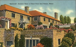 """Skylands"" Summer Home of Edsel Ford"