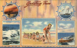 Greetings From! Postcard
