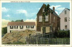 """Ye Old Brig"" or ""Moll Pitcher House"", Birthplace of Molly Pitcher - Built 1650"