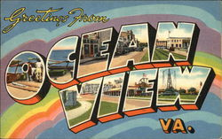 Greetings from Ocean View, Virginia Postcard