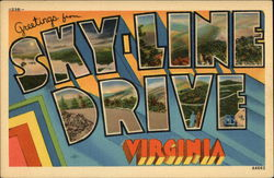 Greetings from Sky-Line Drive, Virginia