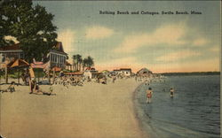 Bathing Beach and Cottages, Swift's Beach