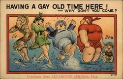 "Greetings - ""Having a gay old time here! Why don't you come?"""