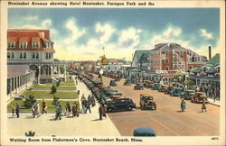 Nantasket Avenue Showing Hotel Nantasket, Paragon Park and the Waiting Room from Fisherman's Cove