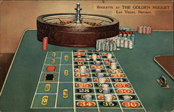 Roulette at The Golden Nugget Postcard