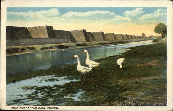 Moat and Tartar Wall - Mailed from China Stamp Peking