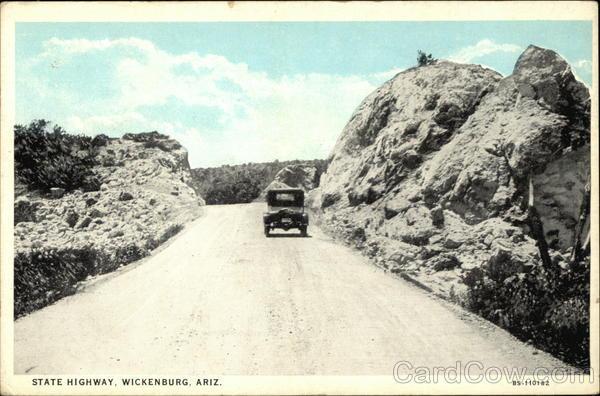 Automobile on the State Highway Wickenburg Arizona
