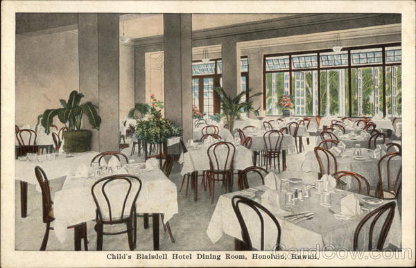 Child's Blaisdell Hotel Dining Room Honolulu Hawaii