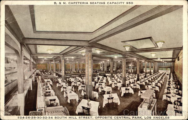 B and M Cafeteria Los Angeles California