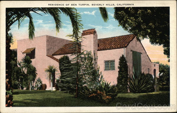 Residence of Ben Turpin Beverly Hills California